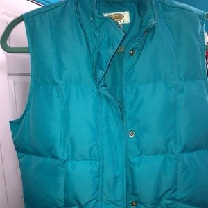 Talbots Sky blue down quilted vest petite S